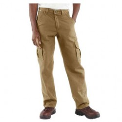 "Carhartt - 35481705199 - Carhartt Size 32"" X 34"" Golden Khaki Canvas Straight Leg Flame-Resistant Cargo Pants With Zipper Closure And Two Large Side Cargo Pockets With Pen Slots, ( Each )"