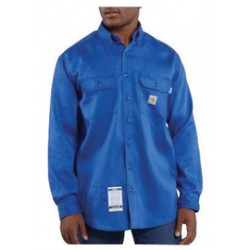 Carhartt - 35481997716 - Carhartt Size 2X/Tall Royal Twill Long-Sleeve Flame-Resistant Shirt With Button Closure And Two Chest Pockets With Flaps And Button Closures, ( Each )