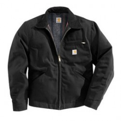 Carhartt - 35481857751 - Carhartt Large Tall Black Flannel Quilt Body Nylon Quilt Sleeves Lined 12 Ounce Heavy Weight Cotton Duck Detroit Jacket Triple-Stitched Seams (2) Lower Front Pockets, Left-Chest Pocket And Inside Welt Pocket, ( Each )