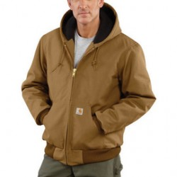 Carhartt - 35481215384 - Carhartt X-Large Regular Brown Flannel Quilt Body Nylon Quilt Sleeves Lined 12 Ounce Heavy Weight Cotton Duck Active Jacket With Front Zipper Closure Triple-Stitched Seams (2) Lower Front Pockets And (2) Inside Pockets, ( Each )