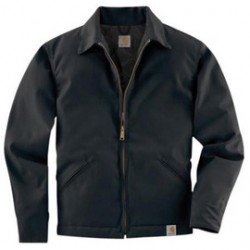 Carhartt - 35481862427 - Carhartt X-Large Tall Black Quilt Body Nylon Sleeves Lined Medium Weight Cotton Twill Work Jacket Triple-Stitched Seams (2) Lower Front Pockets, Inside Pocket And Spread Collar, ( Each )