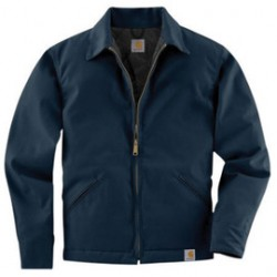 Carhartt - 35481862724 - Carhartt Large Regular Navy Quilt Body Nylon Sleeves Lined Medium Weight Cotton Twill Work Jacket Triple-Stitched Seams (2) Lower Front Pockets, Inside Pocket And Spread Collar, ( Each )