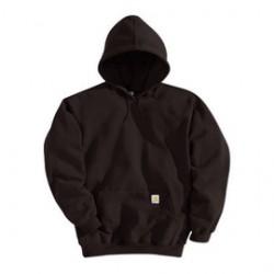 Carhartt - 35481668722 - Carhartt Medium Regular Dark Brown Fleece Lined 10.5 Ounce Medium Weight Cotton Polyester Hooded Pullover Sweatshirt Front Hand-Warmer Pockets, Attached Hood With Draw Cord, Rib-Knit Cuffs And Waistband, ( Each )