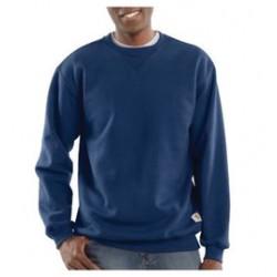Carhartt - 35481976469 - Carhartt Large Regular New Navy 10.5 Ounce Cotton-Polyester Pullover Sweatshirt With, ( Each )