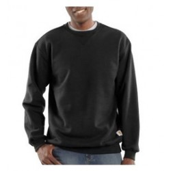 Carhartt - 35481219399 - Carhartt Size 3X Regular Black 10.5 Ounce Cotton-Polyester Pullover Sweatshirt With, ( Each )