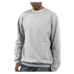 Carhartt - 35481116483 - Carhartt Size 2X Regular Heather Gray 10.5 Ounce Cotton-Polyester Pullover Sweatshirt With, ( Each )