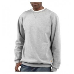 Carhartt - 35481180668 - Carhartt Size 2X Tall Heather Gray 10.5 Ounce Cotton-Polyester Pullover Sweatshirt With, ( Each )