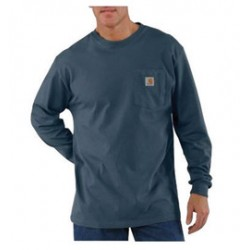 Carhartt - 35481674365 - Carhartt Size 2X Tall Bluestone 6.75 Ounce Cotton Jersey Long Sleeve T Shirt With, ( Each )