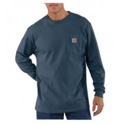 Carhartt - 35481674341 - Carhartt Large Tall Bluestone 6.75 Ounce Cotton Jersey Long Sleeve T Shirt With, ( Each )