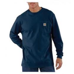 Carhartt - 35481256356 - Carhartt Small X Regular Navy 6.75 Ounce Cotton Jersey Long Sleeve T Shirt With, ( Each )