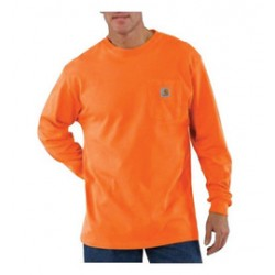 Carhartt - 35481473371 - Carhartt Large Regular Orange 6.75 Ounce Cotton Jersey Long Sleeve T Shirt With, ( Each )