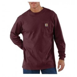 Carhartt - 35481587733 - Carhartt Large Regular Port 6.75 Ounce Cotton Jersey Long Sleeve T Shirt With, ( Each )