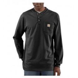 Carhartt - 35481106958 - Carhartt X-Large Regular Black 6.75 Ounce Cotton Jersey Long Sleeve T Shirt With Left Chest Pocket, ( Each )