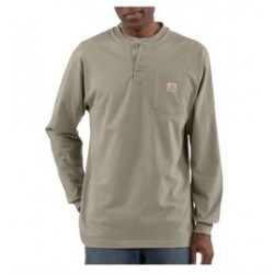 Carhartt - 35481503498 - Carhartt Size 3X Regular Desert 6.75 Ounce Cotton Jersey Long Sleeve T Shirt With Left Chest Pocket, ( Each )