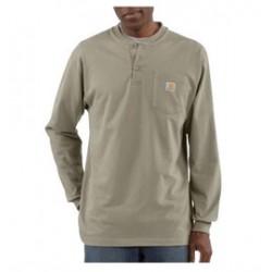 Carhartt - 35481229855 - Carhartt Large Regular Desert 6.75 Ounce Cotton Jersey Long Sleeve T Shirt With Left Chest Pocket, ( Each )