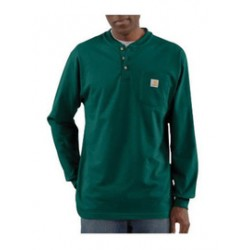 Carhartt - 35481294426 - Carhartt Large Tall Hunter Green 6.75 Ounce Cotton Jersey Long Sleeve T Shirt With Left Chest Pocket, ( Each )