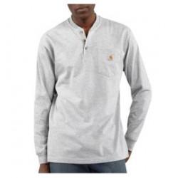 Carhartt - 35481371349 - Carhartt X-Large Regular Heather Gray 6.75 Ounce Cotton Jersey Long Sleeve T Shirt With Left Chest Pocket, ( Each )