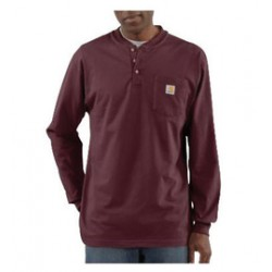Carhartt - 35481678455 - Carhartt Size 2X Regular Port 6.75 Ounce Cotton Jersey Long Sleeve T Shirt With Left Chest Pocket, ( Each )