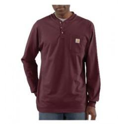 Carhartt - 35481678431 - Carhartt Large Regular Port 6.75 Ounce Cotton Jersey Long Sleeve T Shirt With Left Chest Pocket, ( Each )