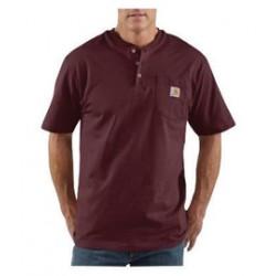 Carhartt - 35481493294 - Carhartt Size 3X Regular Port 6.75 Ounce Medium Weight Jersey Short Sleeve Henley Shirt With Button Closure And Left Chest Pocket, ( Each )