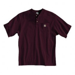 Carhartt - 35481493256 - Carhartt Medium Regular Port 6.75 Ounce Medium Weight Jersey Short Sleeve Henley Shirt With Button Closure And Left Chest Pocket, ( Each )