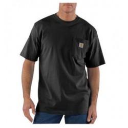 Carhartt - 35481256318 - Carhartt Large Tall Black 6.75 Ounce Medium Weight Jersey Short Sleeve T Shirt With Left Chest Pocket, ( Each )