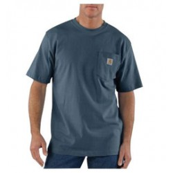 Carhartt - 35481821424 - Carhartt Medium Regular Bluestone 6.75 Ounce Medium Weight Jersey Short Sleeve T Shirt With Left Chest Pocket, ( Each )