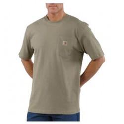 Carhartt - 35481047220 - Carhartt Size 2X Regular Desert 6.75 Ounce Medium Weight Jersey Short Sleeve T Shirt With Left Chest Pocket, ( Each )
