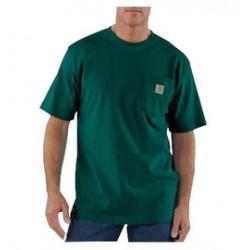 Carhartt - 35481256271 - Carhartt Small X Regular Hunter Green 6.75 Ounce Medium Weight Jersey Short Sleeve T Shirt With Left Chest Pocket, ( Each )