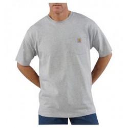 Carhartt - 35481349140 - Carhartt Small X Regular Heather Gray 6.75 Ounce Medium Weight Jersey Short Sleeve T Shirt With Left Chest Pocket, ( Each )