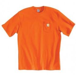 Carhartt - 35481146763 - Carhartt Size 2X Regular Orange 6.75 Ounce Medium Weight Jersey Short Sleeve T Shirt With Left Chest Pocket, ( Each )