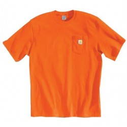 Carhartt - 35481146787 - Carhartt Size 4X Regular Orange 6.75 Ounce Mid Weight Jersey Short Sleeve T Shirt With Left Chest Pocket, ( Each )