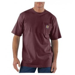 Carhartt - 35481475900 - Carhartt Size 4X Regular Port 6.75 Ounce Medium Weight Jersey Short Sleeve T Shirt With Left Chest Pocket, ( Each )