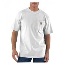 Carhartt - 35481046667 - Carhartt Large Regular White 6.75 Ounce Medium Weight Jersey Short Sleeve T Shirt With Left Chest Pocket, ( Each )