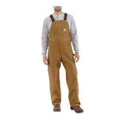 Carhartt - 35481066016 - Carhartt Size 44' X 34' Carhartt Brown 12 Ounce Mid Weight Cotton Duck Zip to Waist Bib Overalls With Buckles Closure And Two Chest Pockets With Zipper Closure, ( Each )