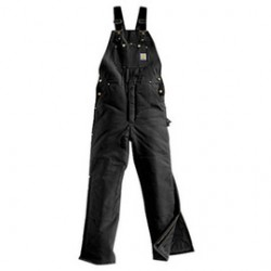 """Carhartt - 35481321665 - Carhartt 46"""" X 30"""" Regular Black Nylon Quilt Lined 12 Ounce Heavy Weight Cotton Duck Arctic Bib Overalls With Open To Knee Leg Zippers With Protective Wind Flaps Closure Triple-Stitched Seams (2) Lower Front Pockets, (2)"""