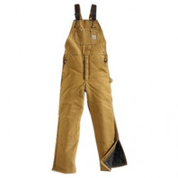 """Carhartt - 35481271670 - Carhartt 46"""" X 28"""" Regular Brown Nylon Quilt Lined 12 Ounce Heavy Weight Cotton Duck Arctic Bib Overalls With Open To Knee Leg Zippers With Protective Wind Flaps Closure Triple-Stitched Seams (2) Lower Front Pockets, (2)"""