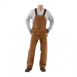 Carhartt - 35481833359 - Carhartt Size 46' X 32' Carhartt Brown 12 Ounce Mid Weight Sandstone Quilt Lined Bib Overalls With Buckles Closure And Two Front Pockets, ( Each )