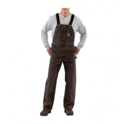 """Carhartt - 35481497193 - Carhartt Size 32"""" X 32"""" Dark Brown 12 Ounce Medium Weight Sandstone Quilt Lined Bib Overalls With Buckles Closure And Two Front Pockets, ( Each )"""