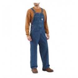 Carhartt - 35481304330 - Carhartt Size 34 X 34 Darkstone 11.75 Ounce Denim Bib Overalls With Buckles Closure And Hammer Loop, ( Each )