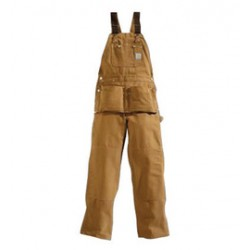 Carhartt - 35481015045 - Carhartt Size 44 X 30 Carhartt Brown 12 Ounce Cotton Duck Carpenter Bib Overalls With Buckle Closure, And, ( Each )