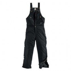 "Carhartt - 35481194290 - Carhartt 32"" X 30"" Black EXTREMES Nylon Quilt Lined 1000 Denier Heavy Weight Cordura Nylon Zip-To-Waist Bib Arctic Overalls With Front Zipper, Leg Zippers With Wind Flaps And Snap Closures Closure Adjustable"