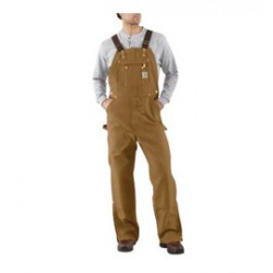 """Carhartt - 35481327087 - Carhartt Size 44"""" X 30"""" Carhartt Brown 12 Ounce Cotton Duck Zip-To-Thigh Bib Overalls With Buckle Closure, Long-wearing, chap-style double-front construction with cleanout bottoms that can accommodate knee pads And Metal"""