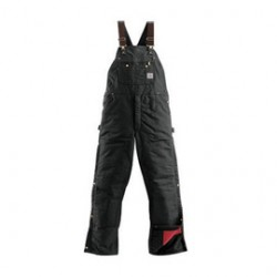 """Carhartt - 35481526305 - Carhartt 50"""" X 28"""" Black Nylon Quilt Lined 12 Ounce Heavy Weight Cotton Duck Zip-To-Thigh Bib Overalls With Ankle To Thigh Leg Zippers With Protective Wind Flaps Closure Triple-Stitched Seams (2) Lower Front Pockets, (2)"""