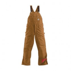 """Carhartt - 35481492341 - Carhartt 38"""" X 30"""" Brown Nylon Quilt Lined 12 Ounce Heavy Weight Cotton Duck Zip-To-Thigh Bib Overalls With Ankle To Thigh Leg Zippers With Protective Wind Flaps Closure Triple-Stitched Seams (2) Lower Front Pockets, (2)"""