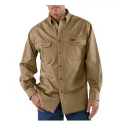 Carhartt - 35481843464 - Carhartt X-Large Regular Cottonwood 8.3 Ounce Twill Long Sleeve Micro-sanded Shirt With Button Closure And Shoulder Pleats, ( Each )