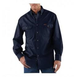 Carhartt - 35481303708 - Carhartt Small X Regular Midnight 8.3 Ounce Twill Long Sleeve Micro-sanded Shirt With Button Closure And Shoulder Pleats, ( Each )