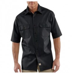 Carhartt - 35481774447 - Carhartt X-Large Regular Black 5.5 Ounce Twill Short Sleeve Shirt With Button Closure, ( Each )