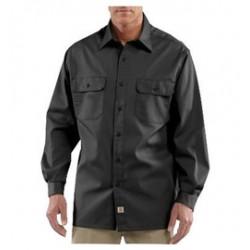 Carhartt - 35481774898 - Carhartt Size 2X Regular Black 5.5 Ounce Twill Long Sleeve Shirt With Button Closure, ( Each )