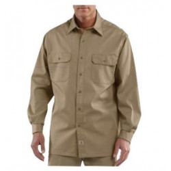 Carhartt - 35481775161 - Carhartt Large Tall Khaki 5.5 Ounce Twill Long Sleeve Shirt With Button Closure, ( Each )